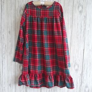 Gymboree Holiday Flannel Nightgown Size L 10-12